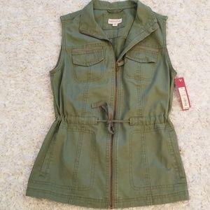 Marina Green denim zip up vest